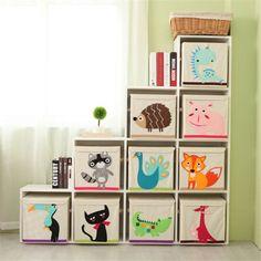Diy Organizer, Organiser Box, Large Storage Bins, Wooden Storage Boxes, Book Storage, Diy Storage, Konmari, Boy And Girl Shared Bedroom, Wholesale Toys