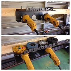 "4 1/2"" Grinder and Wheel Combo Rack - Storage For 3 Grinders - DeWalt Milwaukee | eBay"