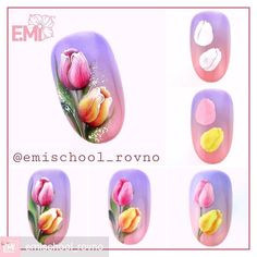 """If you're unfamiliar with nail trends and you hear the words """"coffin nails,"""" what comes to mind? It's not nails with coffins drawn on them. It's long nails with a square tip, and the look has. Hard Nails, Wow Nails, Cute Nails, Spring Nails, Summer Nails, Nail Art Fleur, Tulip Nails, Nail Swag, Broken Nails"""