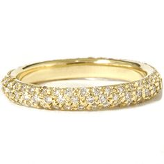 1.10CT VS/SI Micropave Diamond Eternity Ring Eternity Anniversary Band 18K Gold