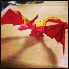 Darkness Dragon 2.0.  Designed by Tadashi Mori. Folded by me.