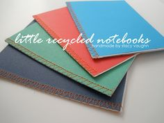 little recycled notebooks