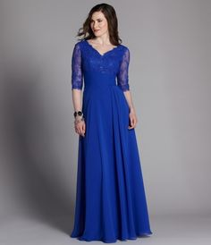 d91ed085f6fa Blue Lace Mother of the Bride Dresses for Weddings with Sleeves Long  Godmother Mother Groom Dresses vestido mae da noiva-in Mother of the Bride  Dresses from ...