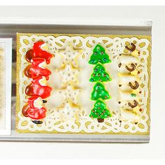Christmas Cookies  Dollhouse Miniature Food by sarahmaloney, $40.00