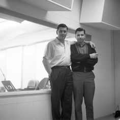 BOB & DICK in the Disney Recording Studios recording songs for SUMMER MAGIC (1962). Sherman Brothers, Musical Film, Film Score, Vintage Disneyland, Aristocats, Recording Studio, The Help, Songs, American