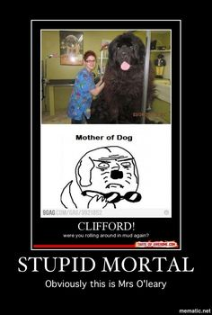Stupid mortals. Always confusing things. Just like the foolish mundanes and the idiot muggles.