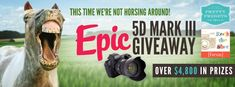 The EPIC Canon 5D Mark III Giveaway! via @Pretty Presets for Lightroom and @Rock the Shot   Come to Mama my pretty Mark III !!!!!  ;)