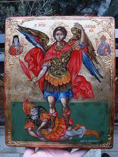 Archangel Michael. Spirit Soul, Gabriel, My Art Studio, Archangel Michael, Orthodox Icons, Saints, Greek, My Arts, Ornament