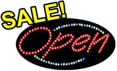 "L7001 - Open LED Sign (Size 15""H X 27""L X 1""D) Led Open Sign, Open Signs, Sign Solutions, Easy, Beautiful"