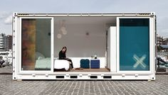 Sleeping Around - Pop-Up Hotel Project.  A Simple, economic solution that makes accommodation fun. Sign me up.