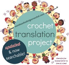 Crochet Translation Project Updated and Searchable #crochetterms #translated