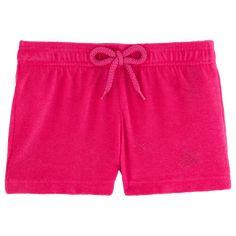 Chicas Shorty Liso - Pantalón corto en tejido terry liso para niña, Shocking pink front
