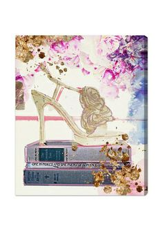 THE OLIVER GAL ARTIST CO. 'Gold Shoe' Canvas Art