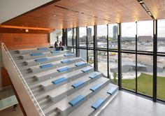 George Brown College / Image Galleries / About Us / Waterfront Toronto A As Architecture, Education Architecture, Landscape Stairs, Urban Landscape, College Image, Brown College, Tiered Seating, Auditorium Seating, Cafe Concept