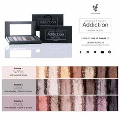 NEW! Coming September 1, 2015! Younique's Moodstruck Addiction Shadow Palettes! www.youniqueproducts.com/Racheldennison