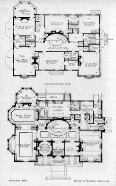 Floor plans of a residence, Brookline, Massachusetts ARCHI/MAPS : Photo