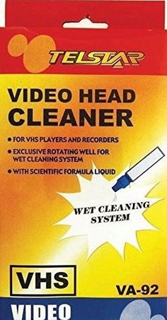 Fashion Head Cleaning Video Tape Cassette For VHS VCR Player & Recorder Wet or Cleaner