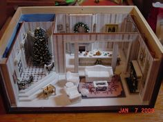 Quarter scale version of the Brooke Tucker Christmas room box Made by Pat Roberson - Sandra - Picasa Web Albums  I made one of these in quarter scale and 144 scale and showed it to Brooke Tucker who loved both.