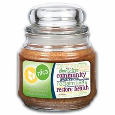 NFCA 16oz Jar The scent of Hot Apple Pie will make you feel at home! $3.00 from the sale of each candle will be donated to the National Foundation for Celiac Awareness. Improving the quality of life for patients with gluten-related disorders. www.CeliacCentral.org