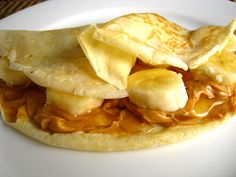 Crepe with peanut butter,honey, and banana :)