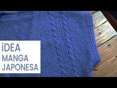 Tejer manga japonesa o manga caída para chaleco Video1💡 Ideas Lucila - YouTube Denim Button Up, Button Up Shirts, Blog, Youtube, Ideas, Knit Patterns, Shearling Vest, Knit Cardigan, Hand Knitting
