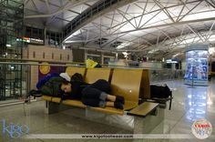 #vamoskigo | Sleeping at the Airport | Incheon, South Korea | Of all the airports in the world to sleep in overnight, Incheon is a lucky draw. The place is filled with shops, restaurants, a movie theater, a dog park and they put on cultural shows. What more could you ask for?  #kigodrive