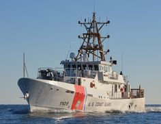 Coast Guard Cutter Kathleen Moore makes way during sea trials in the Gulf of Mexico Feb. 27, 2014. Kathleen Moore was a lighthouse keeper wh...