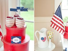 LOVE these 4th of july apples from Anders Ruff!