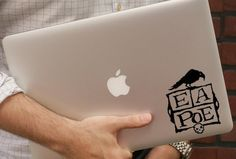 Edgar Allan Poe Vinyl Decal Horror Raven Macbook Laptop Car decal Car Art Window Wall Glass Skateboard Sticker