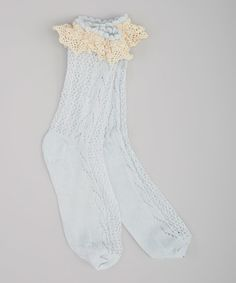 Loving this Blue Vintage Lace Socks on #zulily! #zulilyfinds