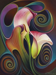 Dynamic Floral IV (Calalillies)