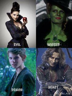 Awesome Evil Queen Regina Zelena Peter Pan Rumple