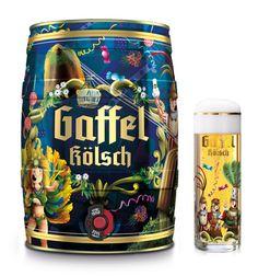 Ilustradora brasileira cria a arte da embalagem da Gaffel Kölsch