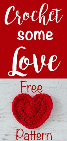 Favorite Crochet Ideas When you need a little love, this free crochet heart pattern is just the thing! - When you need a little love, this free crochet heart pattern is just the thing! Free Heart Crochet Pattern, Crochet Flower Patterns, Crochet Designs, Crochet Flowers, Free Pattern, Free Crochet, Crochet Hearts, Crochet Appliques, Irish Crochet