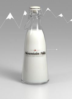 Student Project - Mountain Milk by Anders Drage, via Blog Milk