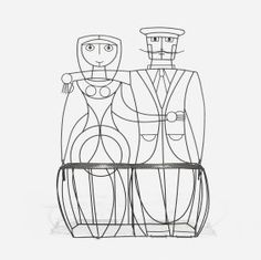 Wire couple chair