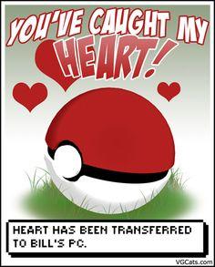 Pokemon Valentines Day Card #Love #Geek #Valentine