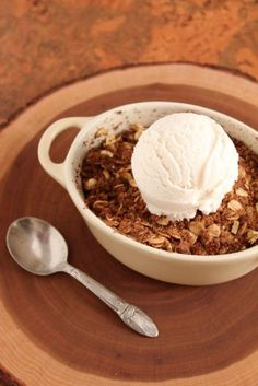 Apple crisp for one - Healthy Food For Living