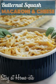 Butternut Squash Mac-n-Cheese.  (Surely the Butternut squash makes the whole thing healthy, right??)