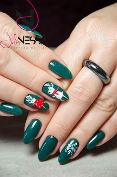 Nails Art Design A fun and social women's lifestyle destination dedicated to style, entertainment, love, and living beautifully. Gel Nails, Acrylic Nails, Manicure, Nail Polish, Xmas Nails, Christmas Nails, Winter Nails, Spring Nails, Nailed It