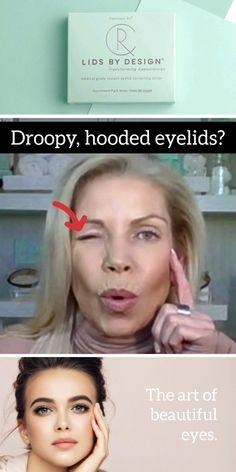 Beauty Make-up, Beauty Makeup Tips, Beauty Secrets, Beauty Skin, Beauty Hacks, Hair Beauty, Saggy Eyelids, Hooded Eyelids, Hooded Eye Makeup