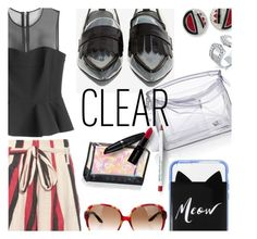 """""""CLeaR"""" by stacey-lynne on Polyvore featuring Kenneth Jay Lane, Bling Jewelry, Jeffrey Campbell, Loewe, Kate Spade, McQ by Alexander McQueen, ace & jig, Obsessive Compulsive Cosmetics, Christian Dior and Benefit"""