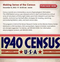 December 8, 2012: Making Sense of the Census at @Atlanta History Center in Atlanta, #Georgia.