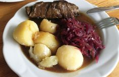 A hearty plate of traditional German food - big portions and bargain prices at Berlin's butchers