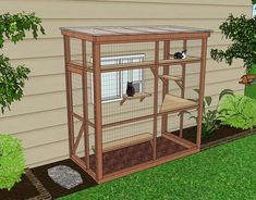 haven 4 x 8 catio diy catio plan cat enclosure catiospaces Diy Cat Enclosure, Outdoor Cat Enclosure, Reptile Enclosure, Cat Window, Cat Cages, Outdoor Cats, Outdoor Cat Houses, Outdoor Cat Cage, Space Cat