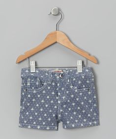 Take a look at this Gray & White Heart Denim Shorts - Toddler & Girls by Squeeze on #zulily today!