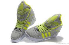 best sneakers 55d9a 9ddea ADIDAS ORIGINALS JS LOGO JEREMY SCOTT ATTITUDE アディダス オリジナルズ ジェレミー スコット  アティテュード JS ロゴ グレー 黄色 ADI0155