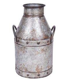 Take a look at this Galvanized Milk Jug today!