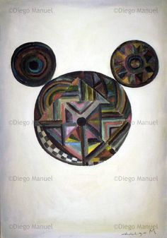 """mickey"", acrylic on canvas, 65 x 45 cm. Price of original painting: inquire"