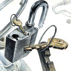자물쇠 & 열쇠 & 링 (스틸)
